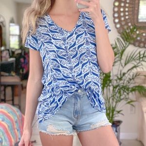 Lilly Pulitzer mermaid Tails V neck top